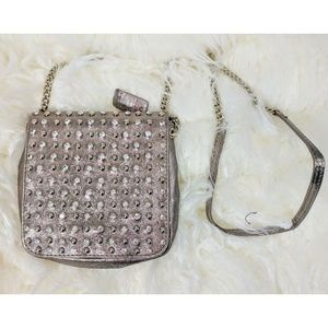 Silver Studded Leather Mini Bag